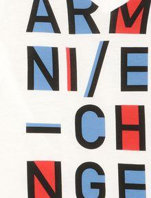 ARMANI EXCHANGE GIRLS POP-ART LOGO V-NECK Logo T-shirt Woman d