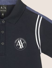 ARMANI EXCHANGE CONTRAST RAGLAN CIRCLE POLO SHORT SLEEVES POLO Man d