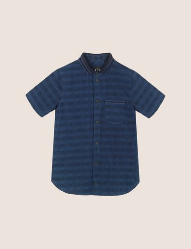 BOYS OVERDYED GINGHAM REGULAR SHIRT