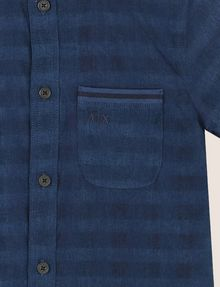 ARMANI EXCHANGE BOYS OVERDYED GINGHAM REGULAR SHIRT Short-Sleeved Shirt Man d