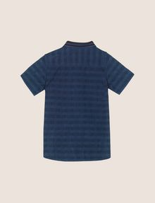 ARMANI EXCHANGE BOYS OVERDYED GINGHAM REGULAR SHIRT Short-Sleeved Shirt Man r