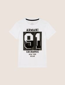 ARMANI EXCHANGE BOYS VARSITY 91 TEE Logo T-shirt Man f