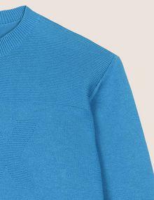 ARMANI EXCHANGE BOYS TONAL LOGO CREWNECK SWEATER Pullover Man d