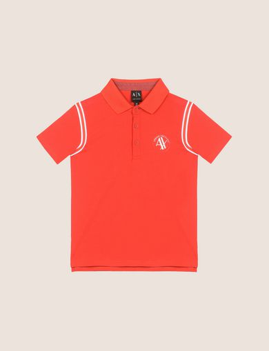 CONTRAST RAGLAN CIRCLE POLO
