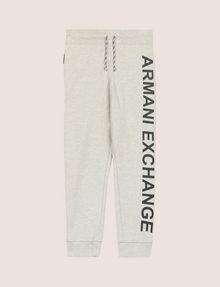 ARMANI EXCHANGE BOYS MESH LOGO JOGGER Fleece Pant Man f