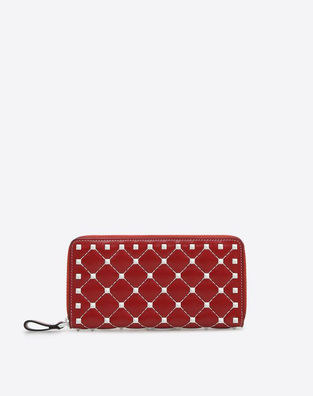 068c05d25f77 Free Rockstud Spike Continental Wallet for Woman | Valentino Online Boutique
