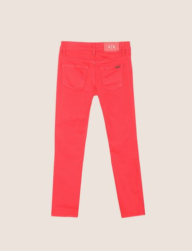 GIRLS COLORFUL CROPPED SUPER-SKINNY JEANS