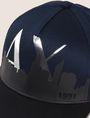 ARMANI EXCHANGE SKYLINE OVERLAY LOGO HAT Hat Man d