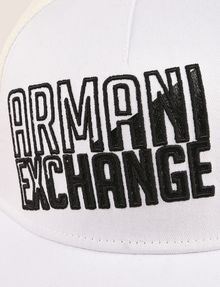 ARMANI EXCHANGE SHADED LOGO MESH HAT Hat Man d