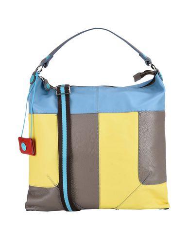 GABS レディース ハンドバッグ 鉛色 革 90% / ポリエステル 10%