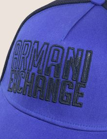ARMANI EXCHANGE SHADED LOGO MESH HAT Hat Man d
