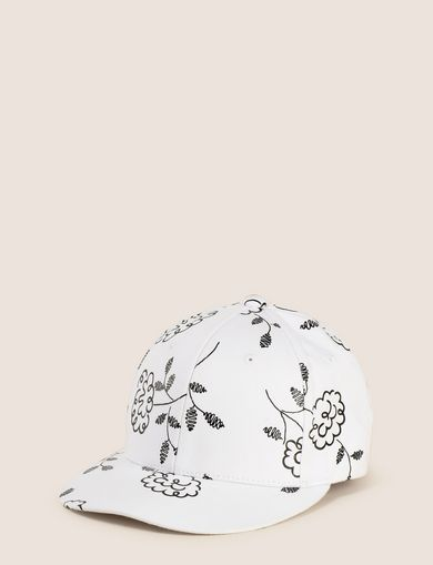 SQUIGGLE FLORAL PRINT HAT