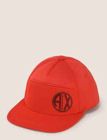 ARMANI EXCHANGE COLORBLOCKED CIRCLE LOGO HAT Hat Man f