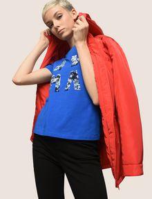 ARMANI EXCHANGE SEQUIN LOGO SPLIT TEE Logo T-shirt Woman a