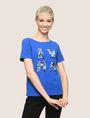 ARMANI EXCHANGE SEQUIN LOGO SPLIT TEE Logo T-shirt Woman f