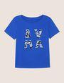 ARMANI EXCHANGE SEQUIN LOGO SPLIT TEE Logo T-shirt Woman r