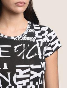 ARMANI EXCHANGE ALLOVER TYPE TEE Logo T-shirt Woman b