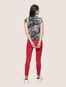 ARMANI EXCHANGE ALLOVER TYPE TEE Logo T-shirt Woman e