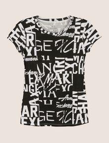 ARMANI EXCHANGE ALLOVER TYPE TEE Logo T-shirt Woman r