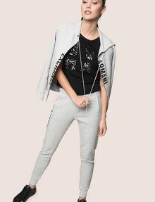 ARMANI EXCHANGE スパンコールロゴ Tシャツ ロゴTシャツ レディース a