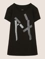 ARMANI EXCHANGE GLITTER TAPE LOGO TEE Logo T-shirt Woman r
