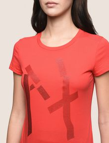 ARMANI EXCHANGE GLITTER TAPE LOGO TEE Logo T-shirt Woman b