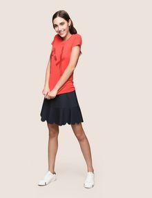ARMANI EXCHANGE GLITTER TAPE LOGO TEE Logo T-shirt Woman d