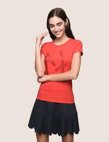 ARMANI EXCHANGE GLITTER TAPE LOGO TEE Logo T-shirt Woman f
