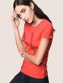 ARMANI EXCHANGE GLITTER TAPE LOGO TEE Logo T-shirt Woman a