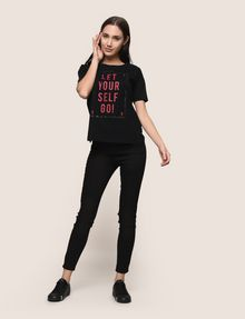 ARMANI EXCHANGE LET YOURSELF GO TEE Logo T-shirt Woman d