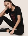 ARMANI EXCHANGE LET YOURSELF GO TEE Logo T-shirt Woman a