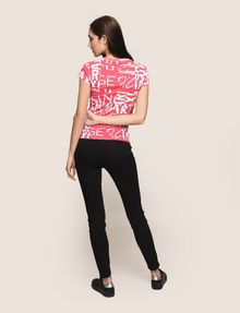 ARMANI EXCHANGE ALLOVER TYPE TEE Logo T-shirt Woman e