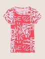 ARMANI EXCHANGE ALLOVER TYPE TEE Logo T-shirt Woman r