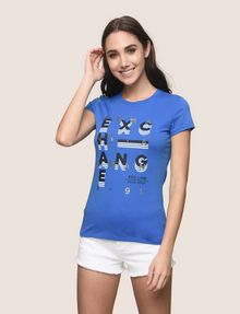 ARMANI EXCHANGE GLITTER POP ART LOGO TEE Logo T-shirt Woman f