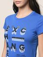 ARMANI EXCHANGE GLITTER POP ART LOGO TEE Logo T-shirt Woman b