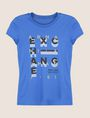 ARMANI EXCHANGE GLITTER POP ART LOGO TEE Logo T-shirt Woman r