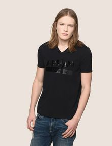 ARMANI EXCHANGE TONAL SHINE PRINT V-NECK Logo T-shirt Man f