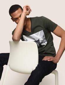 ARMANI EXCHANGE BRIDGESCAPE LOGO TEE Logo T-shirt Man a