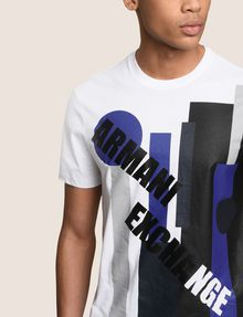 ARMANI EXCHANGE MOD MIX COLORBLOCK-SHIRT Logo-T-Shirt Herren b