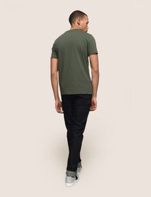 ARMANI EXCHANGE TONAL SHINE PRINT V-NECK Logo T-shirt Man e