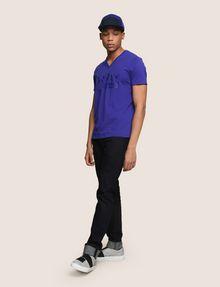 ARMANI EXCHANGE TONAL SHINE PRINT V-NECK Logo T-shirt Man d