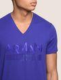 ARMANI EXCHANGE TONAL SHINE PRINT V-NECK Logo T-shirt Man b