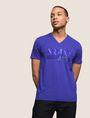 ARMANI EXCHANGE TONAL SHINE PRINT V-NECK Logo T-shirt Man f