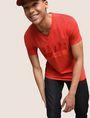 ARMANI EXCHANGE TONAL SHINE PRINT V-NECK Logo T-shirt Man a