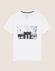 ARMANI EXCHANGE BRIDGESCAPE LOGO TEE Logo T-shirt Man r