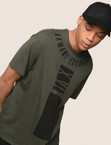 ARMANI EXCHANGE PLACED PRINT RELAXED TEE Logo T-shirt Man a