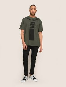 ARMANI EXCHANGE PLACED PRINT RELAXED TEE Logo T-shirt Man d