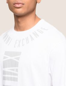 ARMANI EXCHANGE PLACED PRINT RELAXED TEE Logo T-shirt Man b