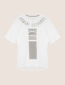 ARMANI EXCHANGE PLACED PRINT RELAXED TEE Logo T-shirt Man r