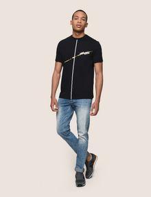 ARMANI EXCHANGE MINIMAL FOIL LINES TEE Logo T-shirt Man d